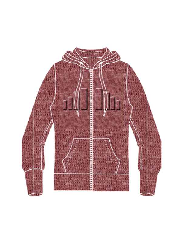EMBOSSED DESIGN FLEECE JACKET