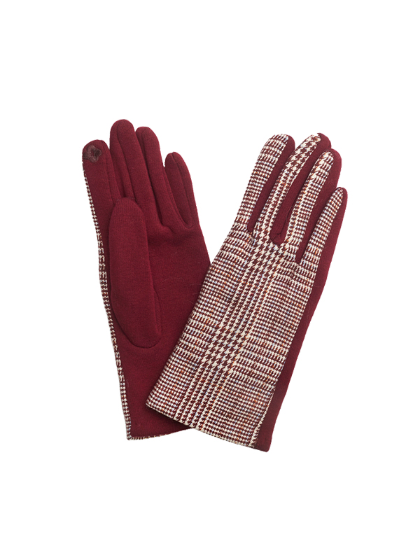 CHECKERED COTTON GLOVES