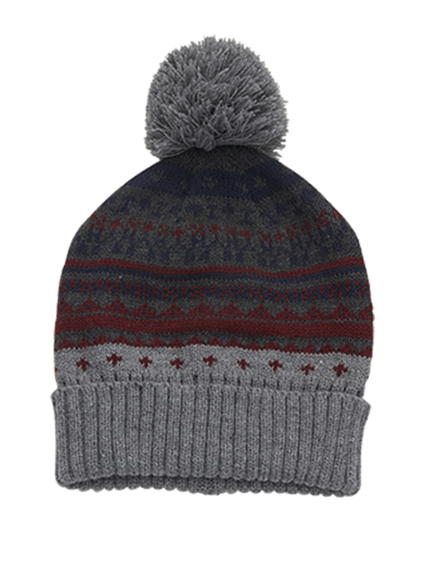 BOY'S PATTERNED KNITTED HAT