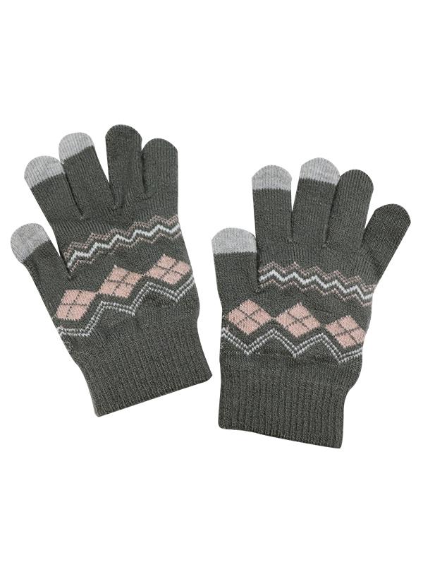GIRL TOUCH SCREEN KNIT GLOVES