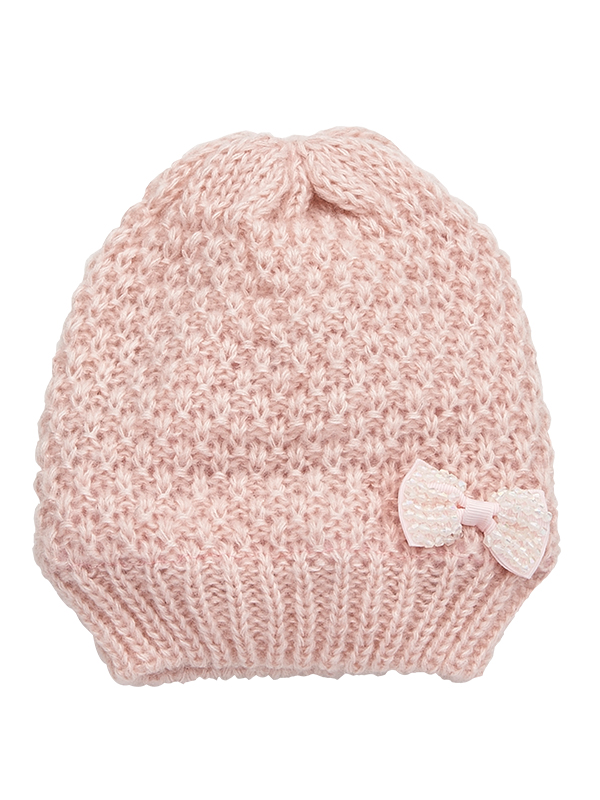 GIRLS'S KNITTED RIBBON HAT