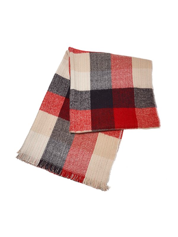 UNISEX CHECKERED WOVEN SCARF
