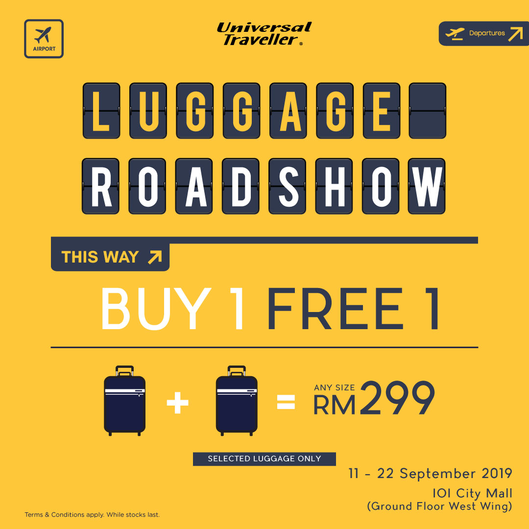 Universal Traveller Luggage Road Show at IOI City Mall