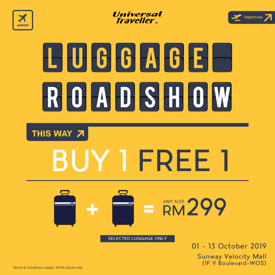 Universal Traveller Luggage Road Show at Sunway Velocity Mall