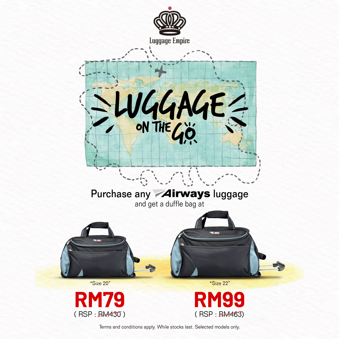 Luggage on-the-go at Luggage Empire