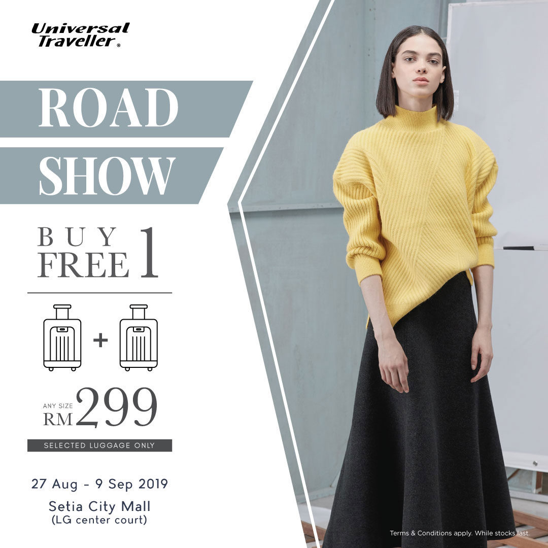 Universal Traveller Luggage Road Show at Setia City Mall