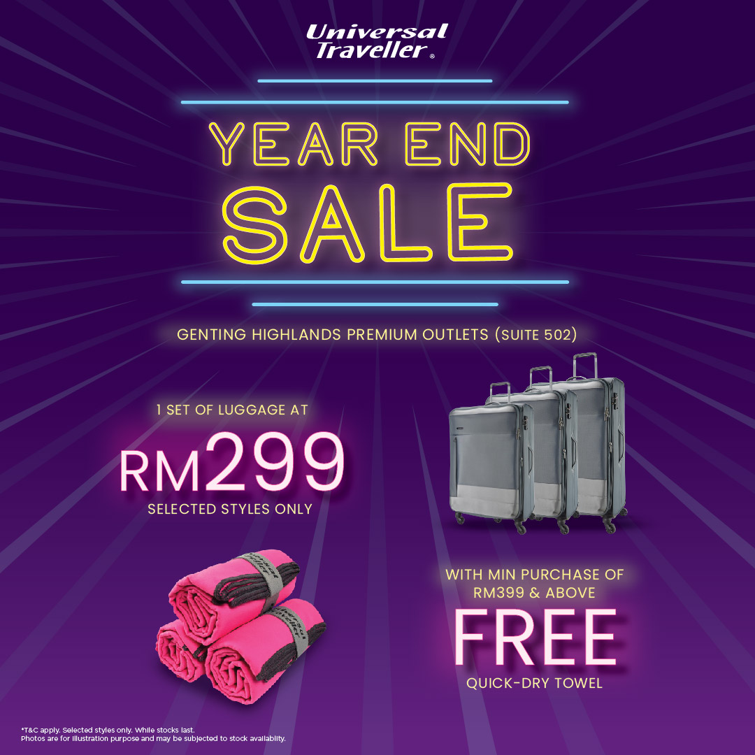 Universal Traveller Year End Sale at Genting Premium Outlet